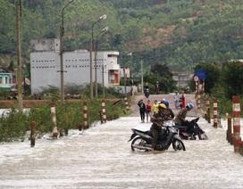 Nước lũ dâng cao, lại nhấn chìm vùng hạ lưu sông Kôn