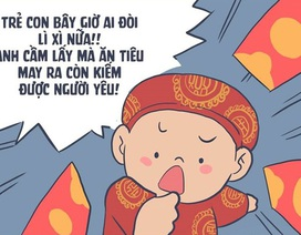 Bộ tranh hài hước kể ước mơ của thanh niên trong năm mới
