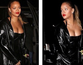 Rihanna khoe ngực đầy ra phố