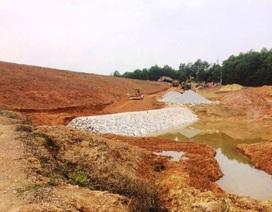 Hà Tĩnh: Nhà thầu thi công đập nước gian dối, dân lo lắng về chất lượng!