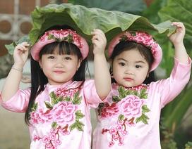Đón xuân sang cùng hai bé gái Hải Phòng cực đáng yêu