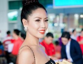 Nguyễn Thị Loan gợi cảm về nước sau khi trượt Top 16 Hoa hậu Hoàn vũ