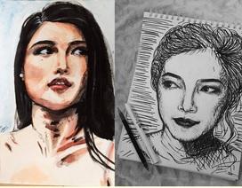 Nhan sắc Việt tại Hoa hậu Quốc tế gây bất ngờ bởi năng khiếu hội họa