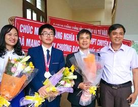 Nghệ An: Tưng bừng chào đón chàng trai đoạt Huy chương Bạc Olympic Hóa học quốc tế