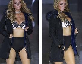 Paris Hilton bốc lửa trên sàn catwalk