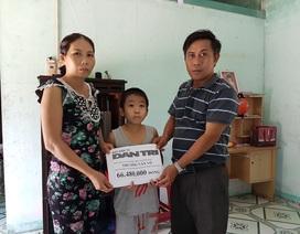 Trao hơn 66 triệu đồng đến gia đình cháu bé 10 tuổi chạy thận