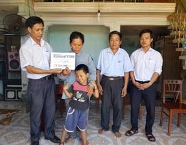 Trao hơn 30 triệu đồng đến với gia đình có ba cháu bị bại liệt