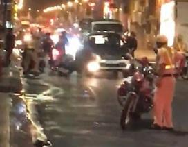 Tài xế say xỉn tông xe đặc chủng của CSGT