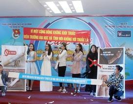 Đoàn viên thanh niên háo hức tìm hiểu phòng chống tác hại thuốc lá