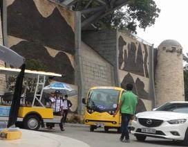 Công an điều tra vụ xe điện bao vây khu du lịch