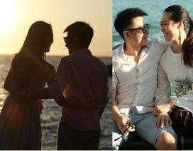 """Vợ chồng Dương Thùy Linh tình tứ đi """"trăng mật"""" lại sau 7 năm"""