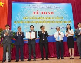 Quảng Ngãi trao chứng nhận đầu tư Khu liên hợp gang thép Hòa Phát Dung Quất