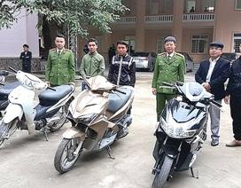 Tóm gọn 6 đối tượng ăn cắp 11 chiếc xe máy và trả lại cho người mất