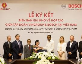 Vingroup và Bosch ký biên bản hợp tác sản xuất ôtô, xe máy điện