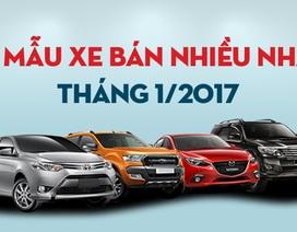 Top 10 mẫu xe bán nhiều nhất tháng 1/2017