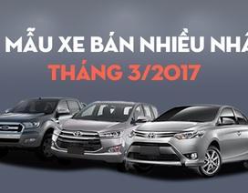 10 mẫu xe bán nhiều nhất tháng 3/2017