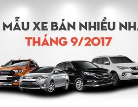[Infographics]-Top 10 mẫu xe bán nhiều tháng 9/2017