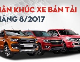 Phân khúc bán tải tháng 8/2017: Toyota Hilux rơi đáy