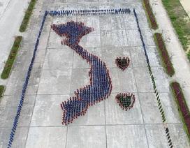 Quảng Bình: Gần 1.500 đoàn viên, thanh niên xếp hình bản đồ Việt Nam