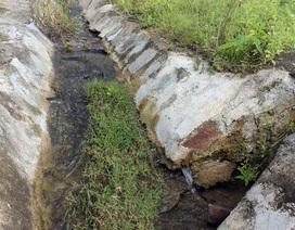 Hồ chứa hơn 2 triệu m3 nước vừa khánh thành đã rò rỉ nghiêm trọng