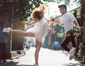 """Cặp đôi chụp ảnh cưới """"nắm tay nhau chạy khắp con phố 3 miền"""""""