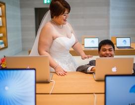 """Cộng đồng mạng phát sốt vì bộ ảnh cưới """"vô tiền khoáng hậu"""" tại Apple Store"""