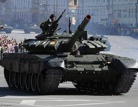 Xe tăng mới nhất của Nga xuất hiện tại buổi hợp luyện duyệt binh