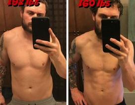 Giảm hơn 14 kg sau 100 ngày ăn toàn kem