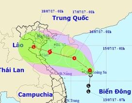 Áp thấp nhiệt đới có khả năng thành bão, hướng vào Hải Phòng - Nghệ An