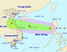 Áp thấp nhiệt đới đã vào Biển Đông