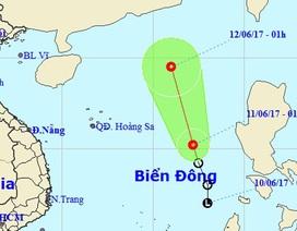 Áp thấp nhiệt đới trên Biển Đông có xu thế mạnh lên