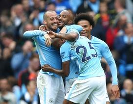 Thắng đậm Crystal Palace, Man City độc chiếm ngôi đầu bảng