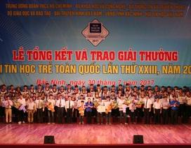 Trao giải Hội thi Tin học trẻ toàn quốc lần thứ XXIII, năm 2017