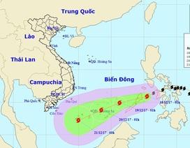 Bão Kai-tak liên tục mạnh lên, trưa nay sẽ vào Biển Đông