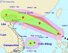 """Bão Pakhar và áp thấp nhiệt đới đang """"đe dọa"""" Biển Đông"""