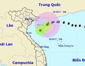 Bão số 11 đã suy yếu thành áp thấp nhiệt đới