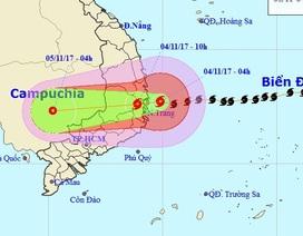 Bão số 12 đã đổ bộ vào đất liền Khánh Hòa - Phú Yên