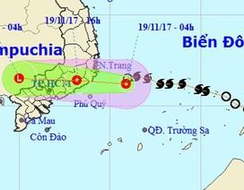 Bão số 14 đã suy yếu thành áp thấp nhiệt đới