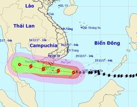 Đêm nay bão số 16 vào đất liền các tỉnh Bà Rịa - Vũng Tàu đến Cà Mau
