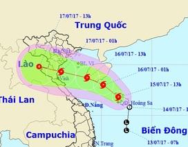 Bão số 2 đang hướng vào các tỉnh Nam Định - Hà Tĩnh