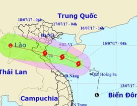 Bão mạnh lên cấp 9, mưa to ở Bắc Bộ và Bắc Trung Bộ