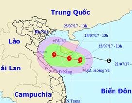 Áp thấp nhiệt đới trên Biển Đông mạnh lên thành bão số 4