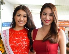 Hoa hậu Phạm Hương tiễn Lệ Hằng thi Miss Universe 2016