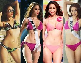 """Những hình ảnh gây """"nhức mắt"""" với bikini của Hoa hậu Hoàn vũ Phạm Hương"""