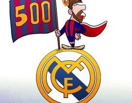 """Chùm ảnh vui về """"ông vua"""" Messi hủy diệt Real Madrid"""