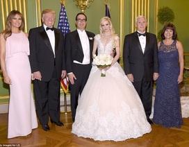 Vợ chồng Tổng thống Trump dự tiệc cưới của Bộ trưởng Tài chính Mỹ
