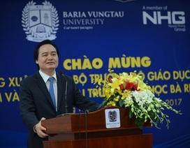 Đầu tư phát triển Đại học Bà Rịa - Vũng Tàu ngang tầm khu vực