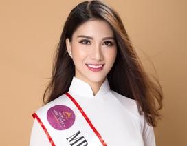 """Nữ tiếp viên hàng không thi Hoa hậu Quý tộc đẹp """"hút hồn"""" trong tà áo dài"""