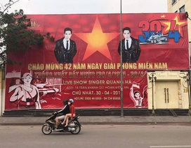 Sử dụng quốc kỳ quảng cáo phản cảm, banner liveshow Quang Hà bị gỡ bỏ