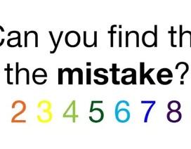 Đố bạn tìm lỗi trong câu đố này?